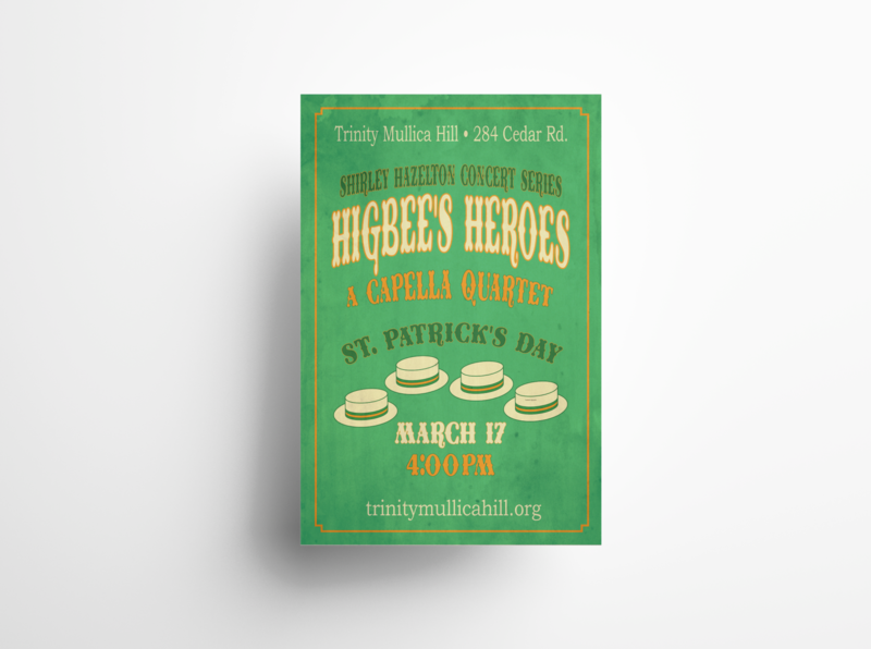 Higbee's Heroes Old-Fashioned Concert Poster Design retro design concert poster poster mockup adobe photoshop vector poster art graphic design design typography adobe illustrator print design illustration poster design