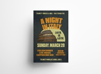A Night in Italy Poster Design fundraiser poster design mockup adobe photoshop branding logo vector typography adobe illustrator print design illustration graphic design design