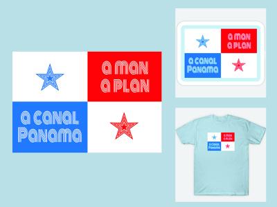 A Man a Plan a Canal Palindrome Design graphic tees sticker design t-shirt design adobe photoshop branding adobe indesign vector illustration typography print design adobe illustrator graphic design design