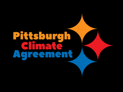 Pittsburgh Climate Agreement T-Shirt Design t-shirt sticker sticker design graphic tees t-shirt design print design vector illustration typography adobe illustrator graphic design design