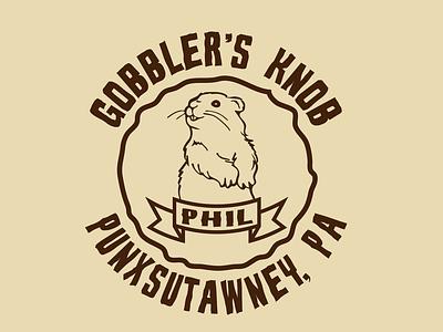 Groundhog Day Punxsutawney Phil T-Shirt Design sticker design graphic tees t-shirt design logo print design vector illustration typography adobe illustrator graphic design design