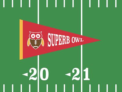 Superb Owl Sunday Design sticker design t-shirt design logo branding print design vector illustration typography adobe illustrator graphic design design
