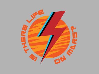 Is There Life on Mars? davidbowie space mars nasa sticker design t-shirt design logo branding print design vector illustration typography adobe illustrator graphic design design