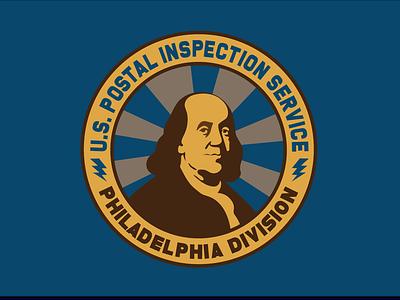 U.S. Postal Inspection Service Badge Design philadelphia ben franklin badge design icon logo branding print design illustration vector typography adobe illustrator graphic design design