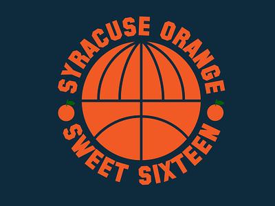 Syracuse Orange Sweet Sixteen T-Shirt Design sticker design syracuse university march madness t-shirt design logo branding print design illustration vector typography adobe illustrator graphic design design