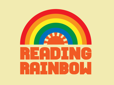 Reading Rainbow Logo Redesign icon graphic designer graphic tees design illustration vector typography adobe illustrator graphic design designs logo logo design