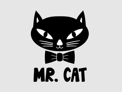 Mr. Cat Band Logo Design band logo rocknroll logodesign graphic designer logo branding illustration vector typography adobe illustrator graphic design design