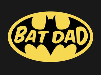 BatDad T-Shirt Design superhero t-shirt t-shirt design logo print design illustration vector typography adobe illustrator graphic design design