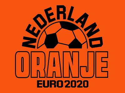 Nederland Oranje: EURO 2020 T-Shirt Design graphic tees t-shirt t-shirt design branding print design illustration vector typography adobe illustrator graphic design design