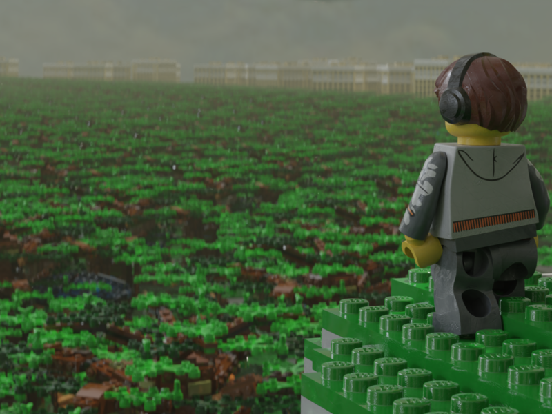 Lego Mountain Forest Overlook samino minifig shader pbr lego b3d