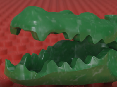 Lego Alligatorfig - Bendy Head Animation samino alligatorfig shader pbr lego b3d