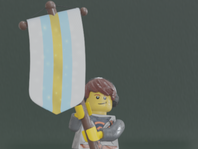 Lego Righteousness Month - Purity - Day 7 samino righteousnessmonth shader pbr lego b3d
