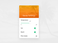 Daily UI #07 - Settings