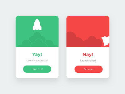 Daily UI #11 - Flash Message 011 space card modal message flash ui dailyui daily