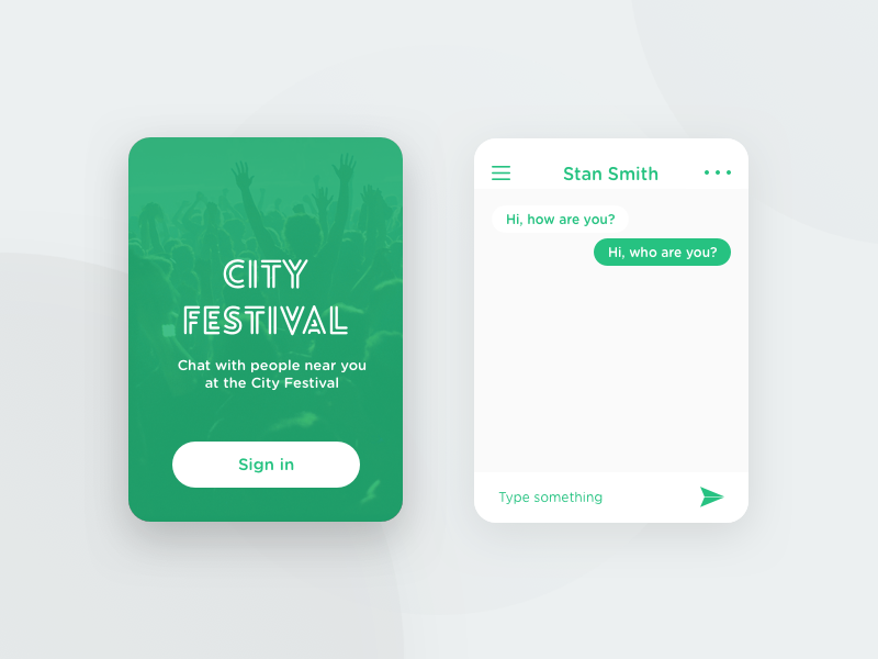 Daily UI #13 - Messaging App chat festival card app messaging 13 ui daily dailyui