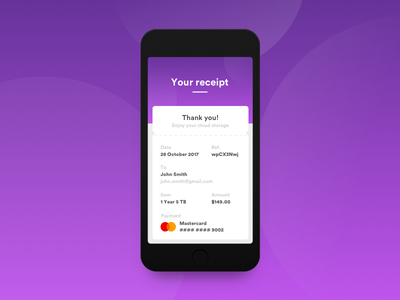 Daily UI #17 - Email Receipt receipt email 17 daily ui