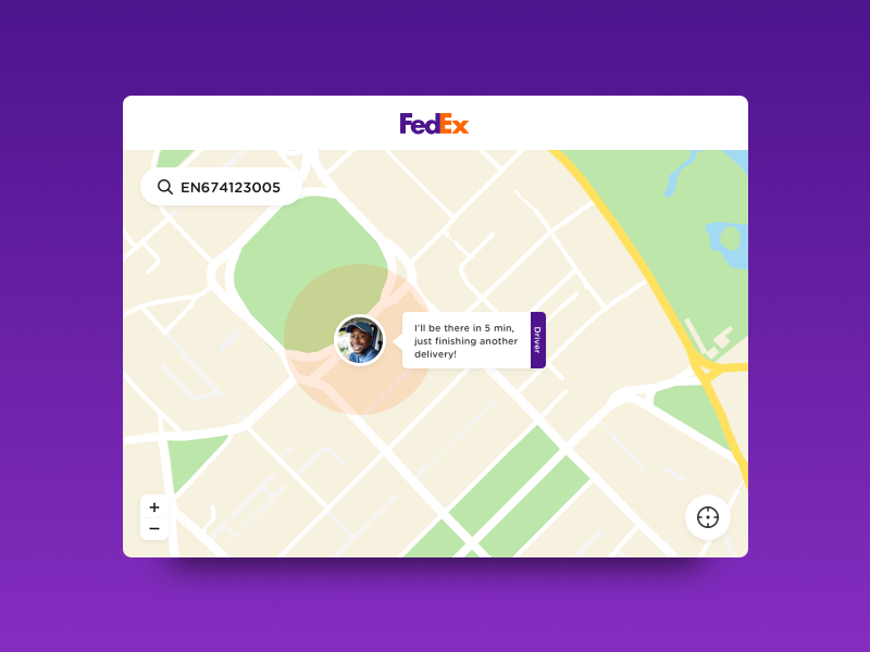 Daily UI #20 - Location Tracker