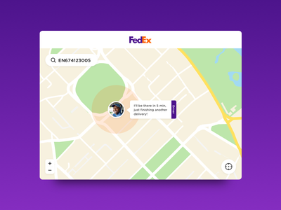 Daily UI #20 - Location Tracker delivery fedex location tracker daily ui