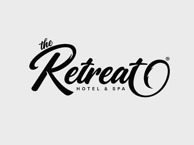 'The Retreat' Custom lettering calligraphy logo logomark logodesigns graphicdesign logo design logodesigner logodesign calligraphy handtype vector illustrator logos lettering customlettering logotype type logo