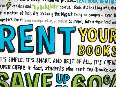 Textbooks Poster - Rent