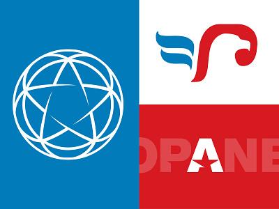 Clean American Energy logo concepts clean american energy propane star eagle flame