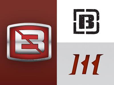 Double B Logo Concepts b tire tread off-road vehicle outdoor badge emblem reticle