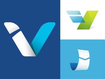 Accounting Logo Concepts i v accounting investing innovative technology data quick easy perspective depth logo