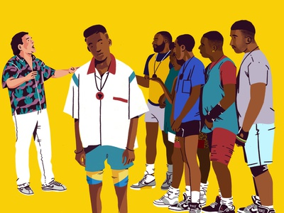 Do the right thing - Mookie fanart ipadpro procreate brooklyn ny hiphop nike movies 80s style dotherightthing spike lee character illustration