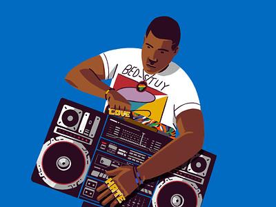 Do the right thing - Radio Raheem fanart brooklyn ny draw procreate cinema 80s style hiphop dotherightthing spike lee illustration