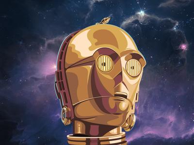 C3PO c3po star wars illustration robot