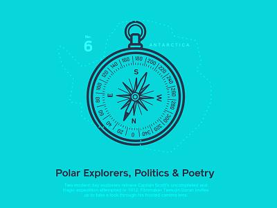 Astronaut Magazine  #6 Polar Explorers, Politics & Poetry polar illustration astronaut magazine cover
