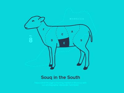 Astronaut Magazine #8 - Souq In The South sheep morocco illustration astronaut magazine meat