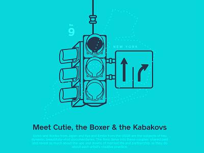 Astronaut Magazine #9 - Meet cutie, the boxer and the Kabakovs kabakovs illustration astronaut magazine new york traffic light