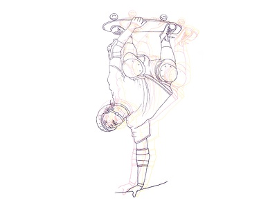 Gravity // Skater gravity skater skateboarding illustration