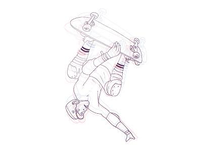 Gravity // Skater 3 gravity skater skateboarding illustration