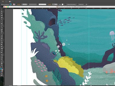 Plemmirio Illustration illustrator jelly fish vector sea life sicily texture sea nature illustration