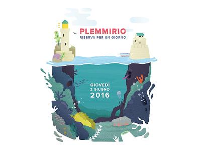 Plemmirio Final Illustration vector texture sicily sea life sea nature jelly illustrator illustration fish