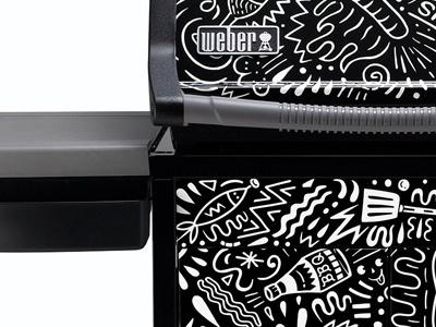 Weber BBQ Wrap bbq weber illustration black and white
