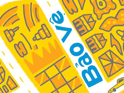 Hepb Poster Closeup illustration pattern hand drawn type