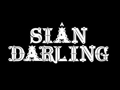 Siân Darling Logo typography illustration black and white