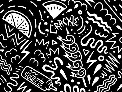 Weber BBQ Details illustration pattern hand drawn type black and white
