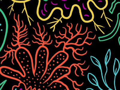 Crop of a new project pattern illustration organic flow diagram schematic