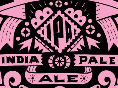Maven IPA Detail ipa beer label packaging typography