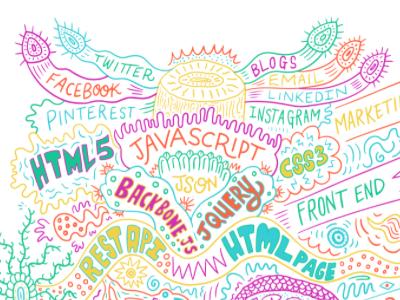 IO Services artwork crop digital hand drawn type hand lettering web coding pattern
