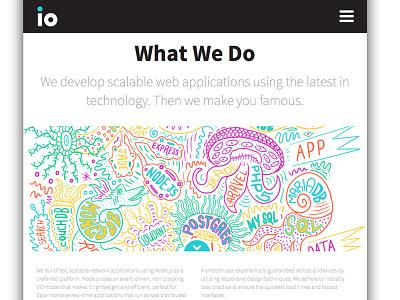 IO Services artwork website crop io web coding digital illustration hand drawn type lettering pattern