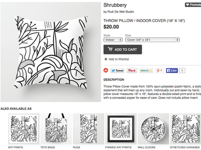 Shubbery society6 pattern texture