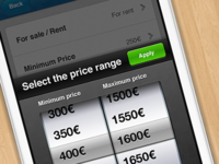Select the price (iPhone App)