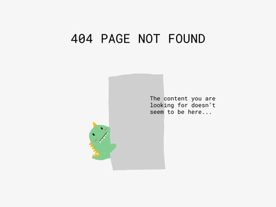 Daily UI 008: Page Not Found 008 404 error 404page 404 illustration procreate minimalism figma ux ui design dailyui