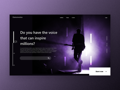 Music event website userinterface webapp app website minimal graphic design ui landingpage music user experience user interface website design