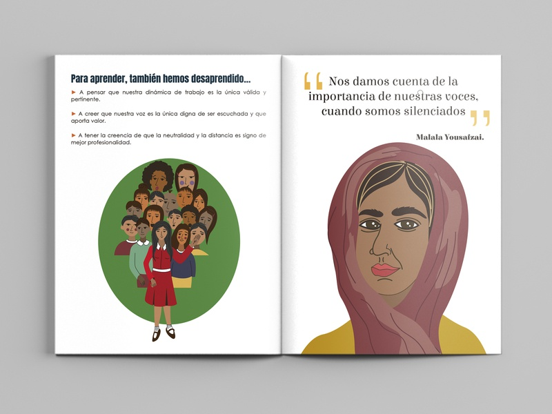 Editorial design and illustrations for InteRed Bolivia editorial illustration editorial art editorial design characters illustration digital bolivia gender equality gender illustration illustrations characterdesign